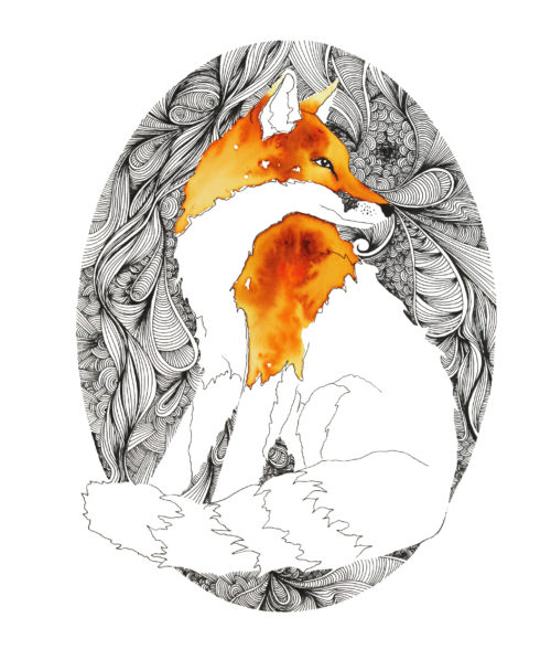 Fox, A3, (297 x 420mm) Featured on The Block NZ
