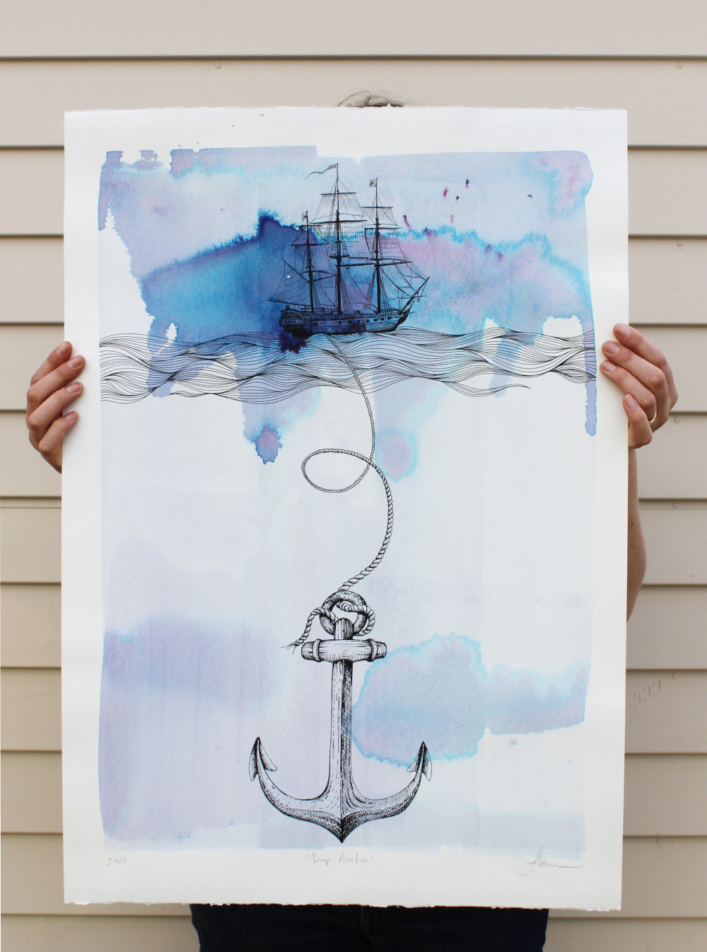 Drop Anchor - Screenprint (500x700mm) -  Featured on The Block NZ